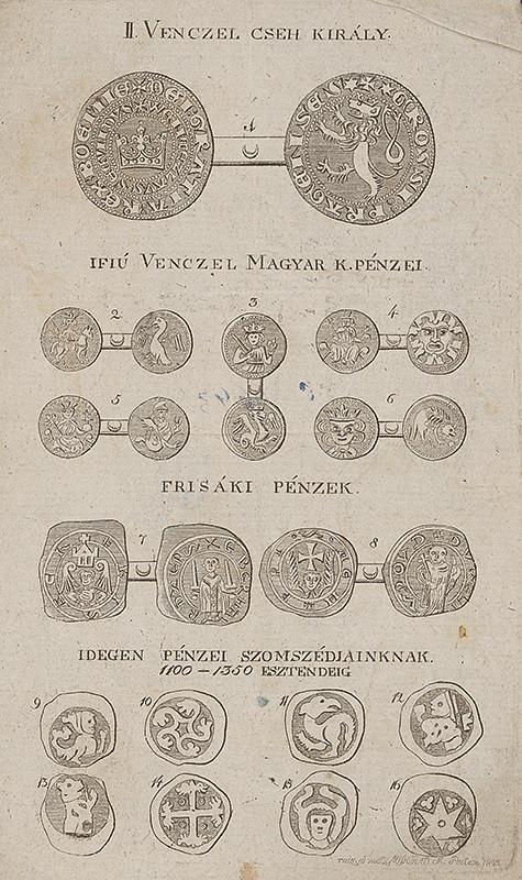 Maďarský grafik z 19. storočia - Maďarské a cudzie mince (1824), Galéria mesta Bratislavy, GMB