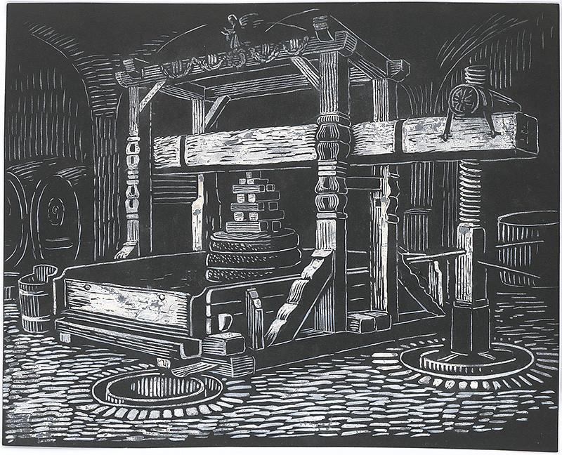 Karol Frech - Preš na víno, 1930–1935, Galéria mesta Bratislavy, GMB