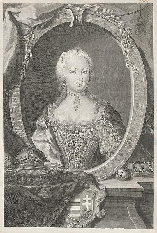 Franz Leopold Schmitner - Mária Terézia ako uhorská kráľovná, 1741