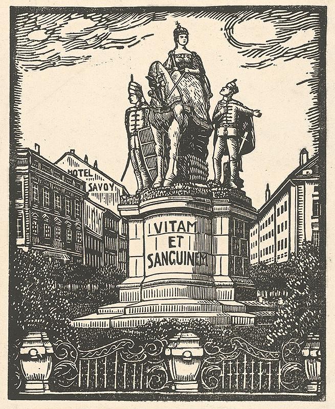 Karol Frech - Pomník Márie Terézie v Bratislave, 1929