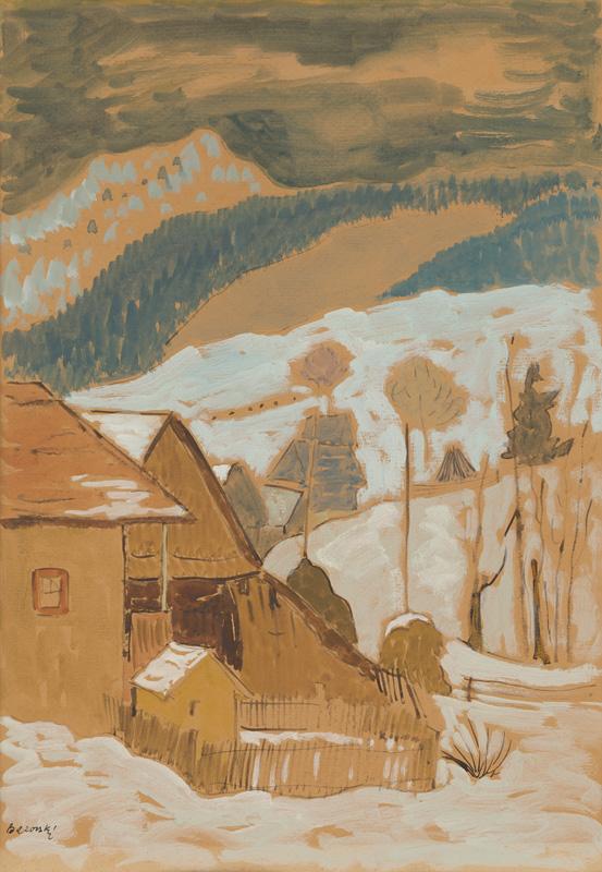 Miloš Alexander Bazovský - Zima na Orave, 1951