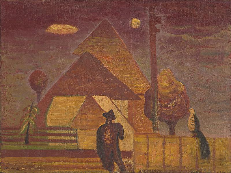 Miloš Alexander Bazovský - Čudný vták (1952), Liptovská galéria Petra Michala Bohúňa, GPB