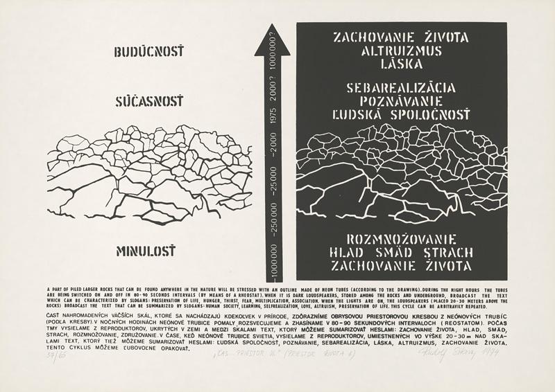 Rudolf Sikora - Čas...Priestor VI., Priestor života II. (1974), Liptovská galéria Petra Michala Bohúňa, GPB
