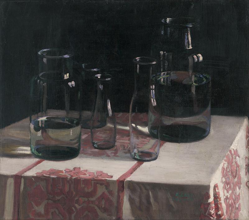 Emil Alexay-Olexák - Zátišie s fľaškami | Web umenia