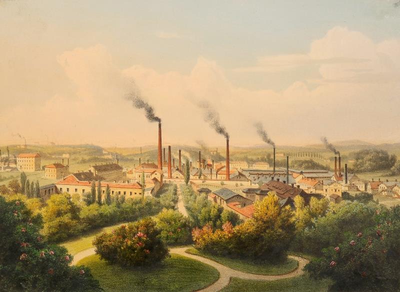 August Haun - Vítkovické železárny, Moravská galerie