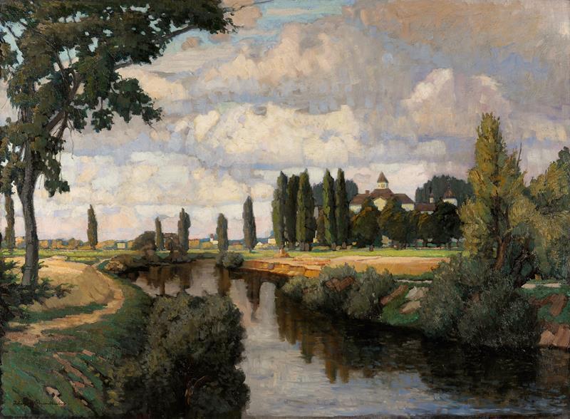 Lili Gödl-Brandhuber - Klášter Hradiště, okolo 1900, Moravská galerie