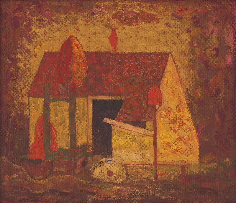 Miloš Alexander Bazovský - Samota s červenou sovou (1956–1957), Oravská galéria, OGD