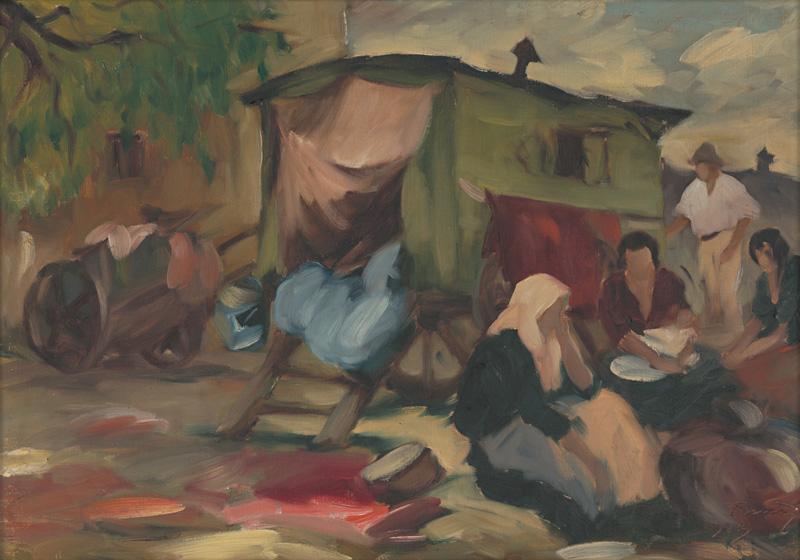 Viliam Ruttkay-Nedecký - Kočovní cigáni, 1924