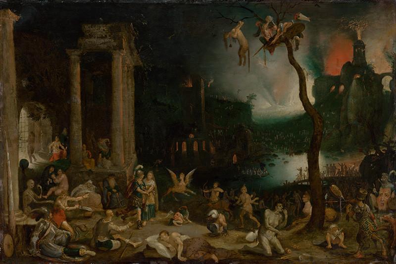 Jan Brueghel st. - Aeneas a Sibyla kúmska v podsvetí, okolo 1604