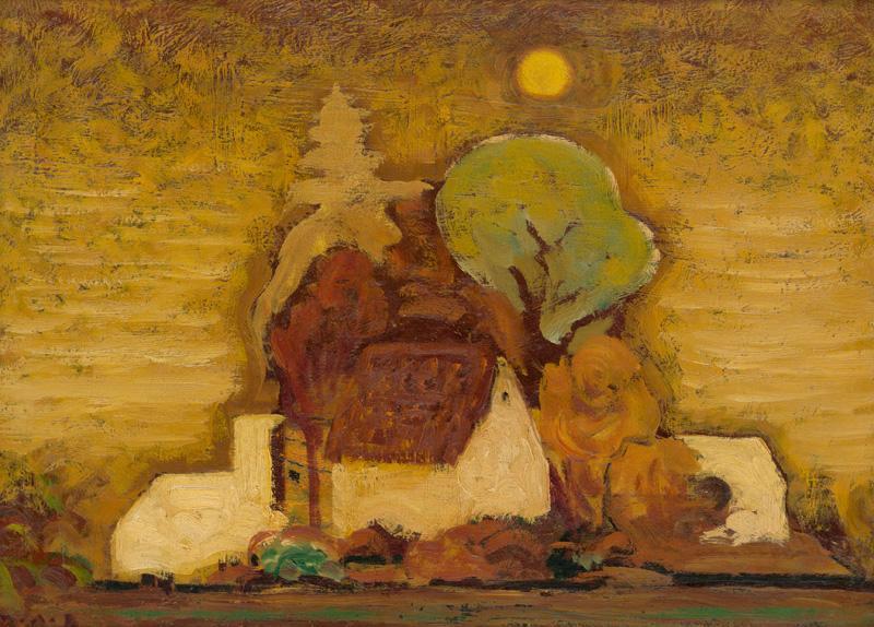 Miloš Alexander Bazovský - Samota (1951), Slovenská národná galéria, SNG