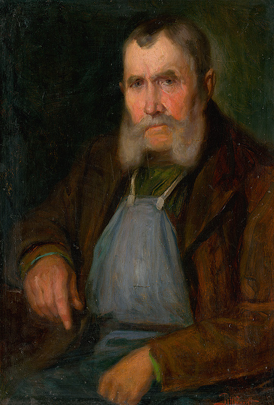 Ľudovít Pitthordt - Podobizeň starého bratislavského vinohradníka Schmidta-Hanzla, okolo 1900