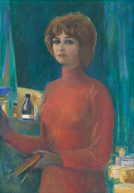 Kvetoslava Gandlová - Autoportrét, 1977, Slovenská národná galéria