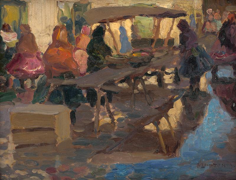 Jozef Theodor Mousson - Štúdia z trhu, okolo 1925