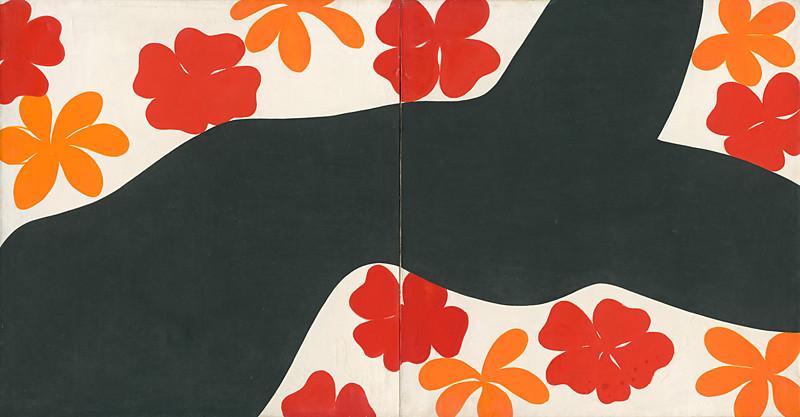 Oľga Bartošíková - Čierny kvetinový akt, 1960-1965, Slovenská národná galéria