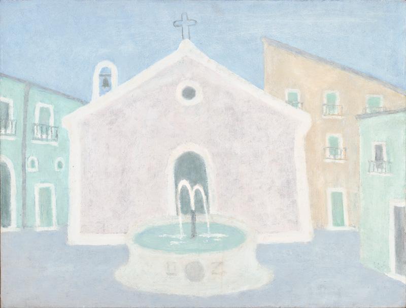 Ernest Zmeták - Kostol s fontánou (Sicílska fontána), 1999