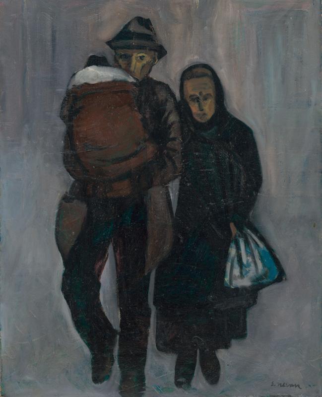 Eugen Nevan - Nezamestnaná rodina z cyklu 'Život za buržoáznej republiky' (1962)