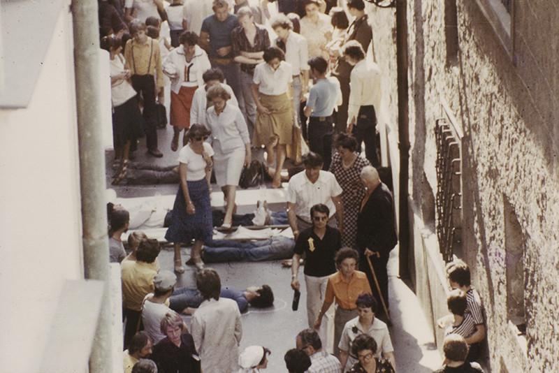 Ján Budaj, Dočasná spoločnosť intenzívneho prežívania - Pouličná akcia, 1979, Slovenská národná galéria