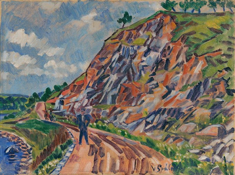 Václav Špála - Krajina u Pyšel, 1942, Slovenská národná galéria