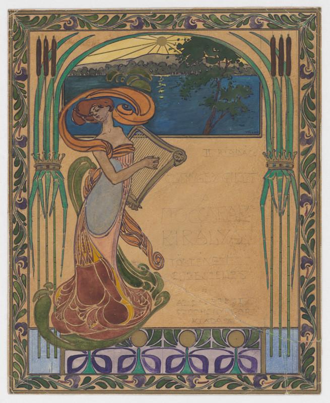 Július Török - Návrh na knižnú obálku, 1910–1915, Slovenská národná galéria