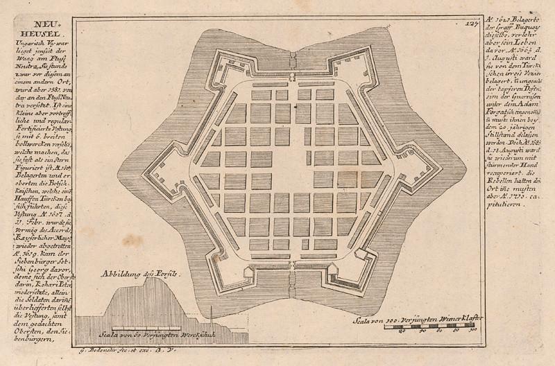 Gabriel Bodenehr st. - Fortifikačný plán Nových Zámkov, 1720–1750, Slovenská národná galéria