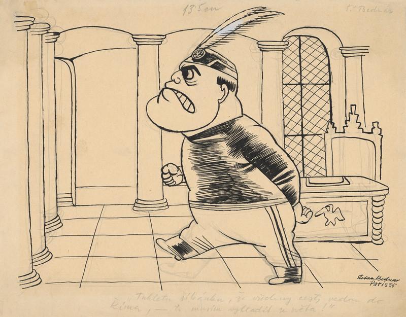 Štefan Bednár - Mussolini, 1935
