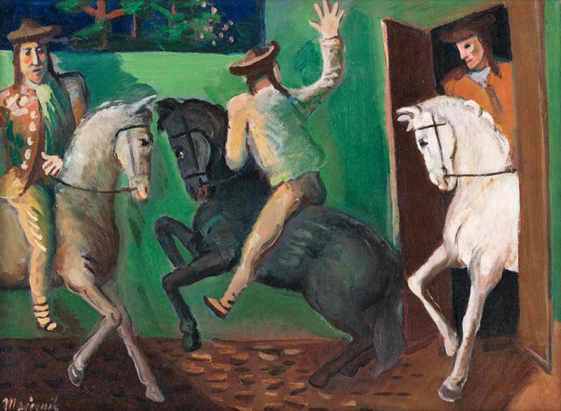 Cyprián Majerník - Jazdci, 1936, Slovenská národná galéria