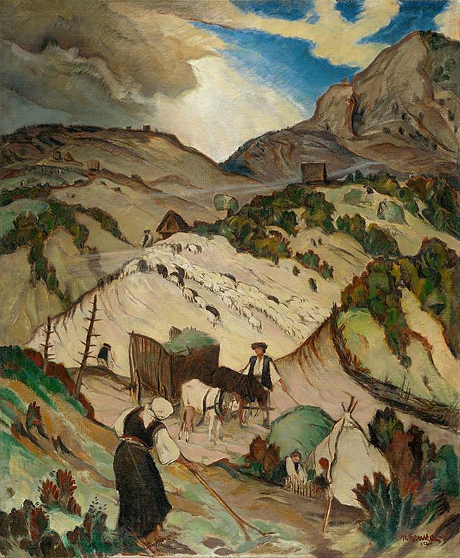 Martin Benka – Na holiach, 1922, Slovenská národná galéria