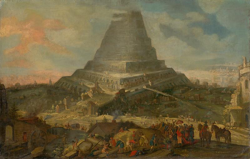 Nizozemský maliar zo 17. storočia - Babylonská veža, 1601 – 1625
