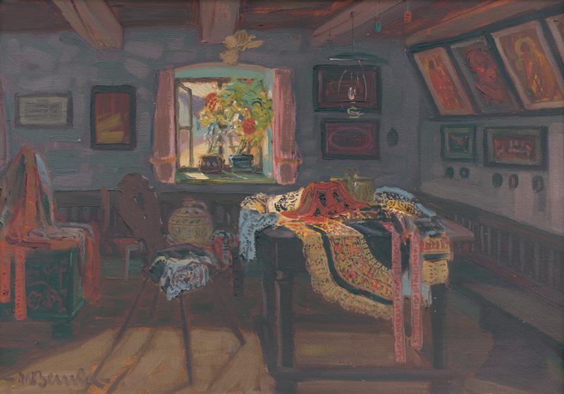 Martin Benka - Izba z Ratiškoviec, 1916,  Slovenská národná galéria