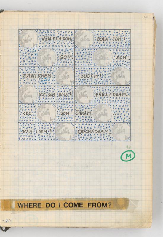 Rudolf Sikora - Konceptuálna kresba v zápisníku (1970–1975), Slovenská národná galéria, SNG