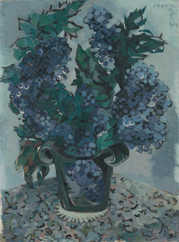 Ester Šimerová-Martinčeková - Modré bobule, 1944, Slovenská národná galéria, SNG