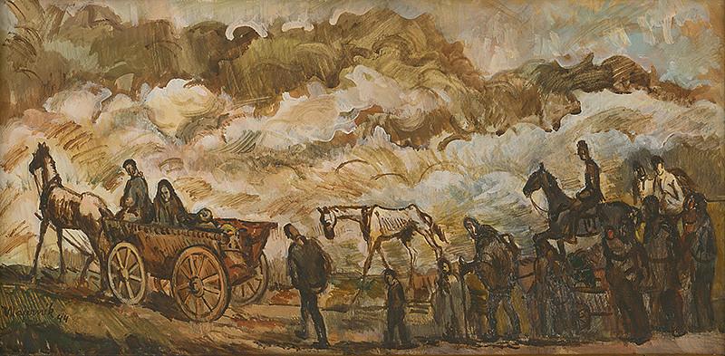 Cyprián Majerník - Utečenci, 1944, Slovenská národná galéria