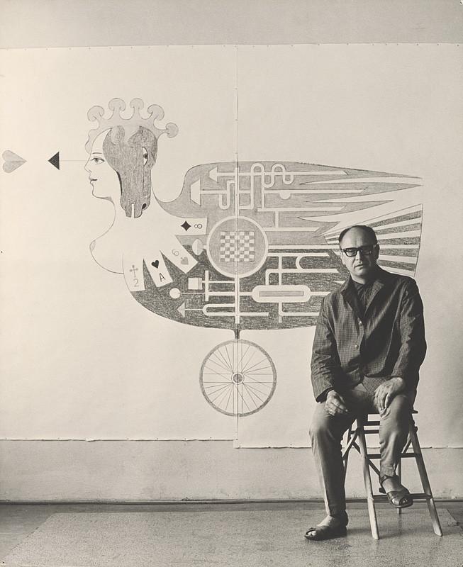 Magdaléna Robinsonová - Ladislav Guderna. Portrét, 1966 - 1967, Slovenská národná galéria