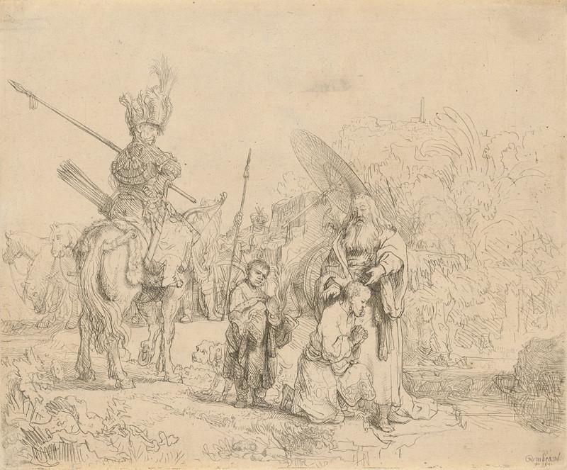 Rembrandt van Rijn - Krst eunucha (Sk 8, 26-39), 1641