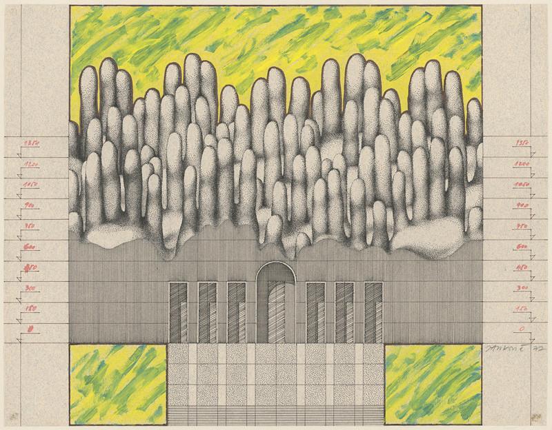 Jozef Jankovič - Projekt parlamentu s nafukovacou strechou, 1977
