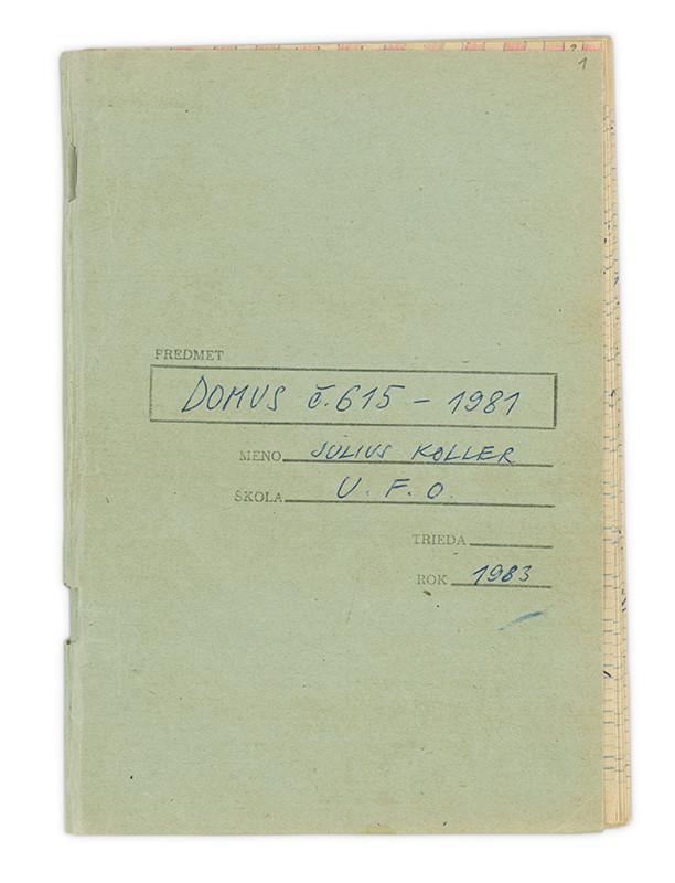 Július Koller - Archív JK/Domus č. 615/1981, 1983, Slovenská národná galéria