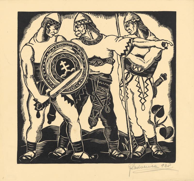 Ján Ladvenica - List z albumu Boj za slobodu I., 1938