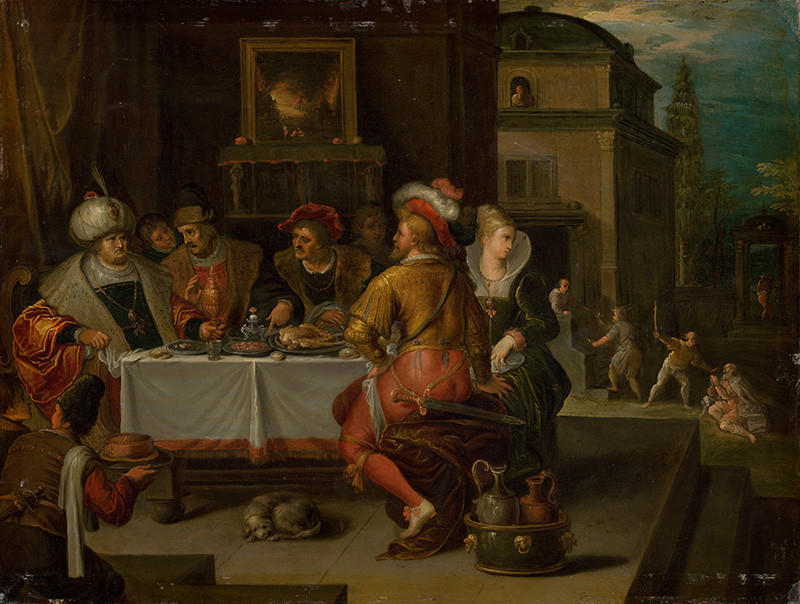 Frans Francken II. - Podobenstvo o boháčovi a Lazarovi, okolo 1625