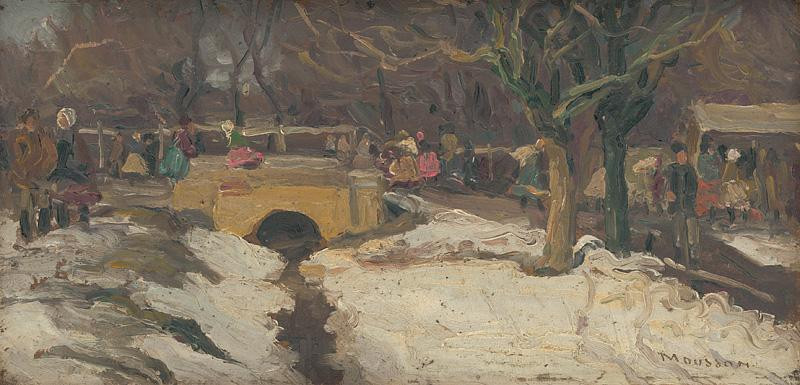 Jozef Theodor Mousson - Trh, okolo 1920, Slovenská národná galéria