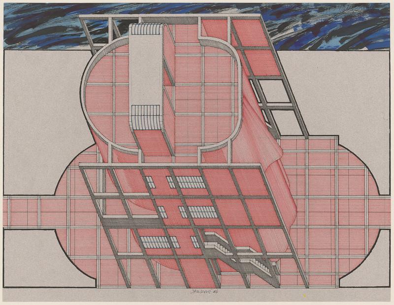 Jozef Jankovič - Projekt domu s klapkami na očiach, 1984