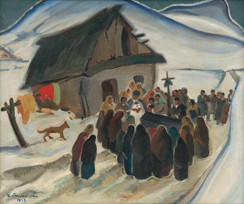 Karol Ondreička - Cigánsky pohreb, 1933
