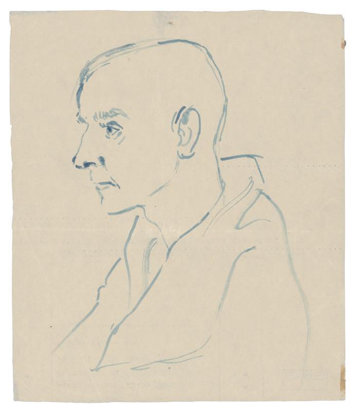 Hlava muža z koncentráku