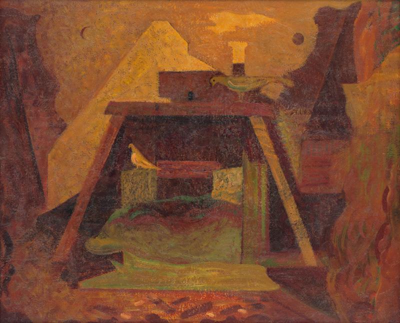 Miloš Alexander Bazovský - Dvorec (1956), Slovenská národná galéria