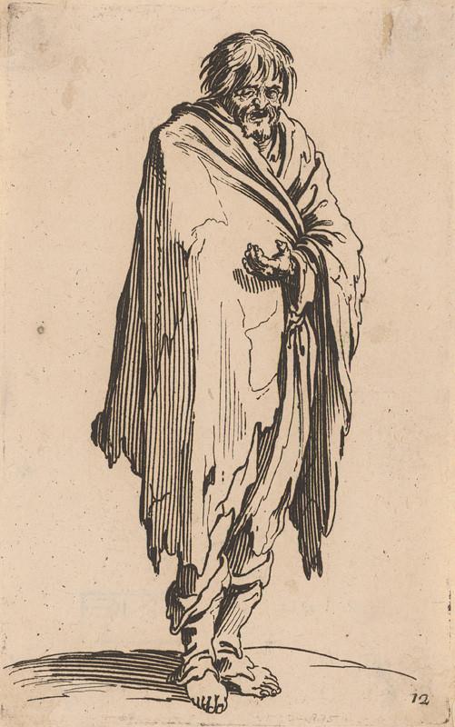 Jacques Callot - Bosý žebrák, 1622
