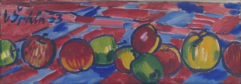Václav Špála - Zátišie s jablkami, 1933