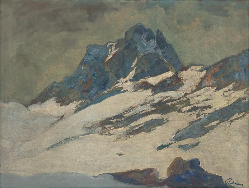 Karol Polónyi - Tatry v zime, 1925-1935, Slovenská národná galéria