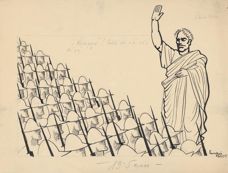 Štefan Bednár - Rimania, svet sa na vás díva! Mussolini ako Caesar, 1935