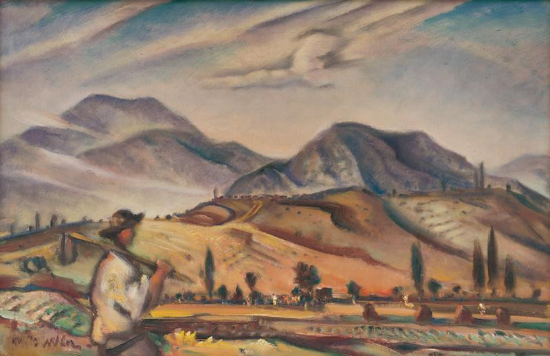 Martin Benka - Krajina z Oravy, 1937