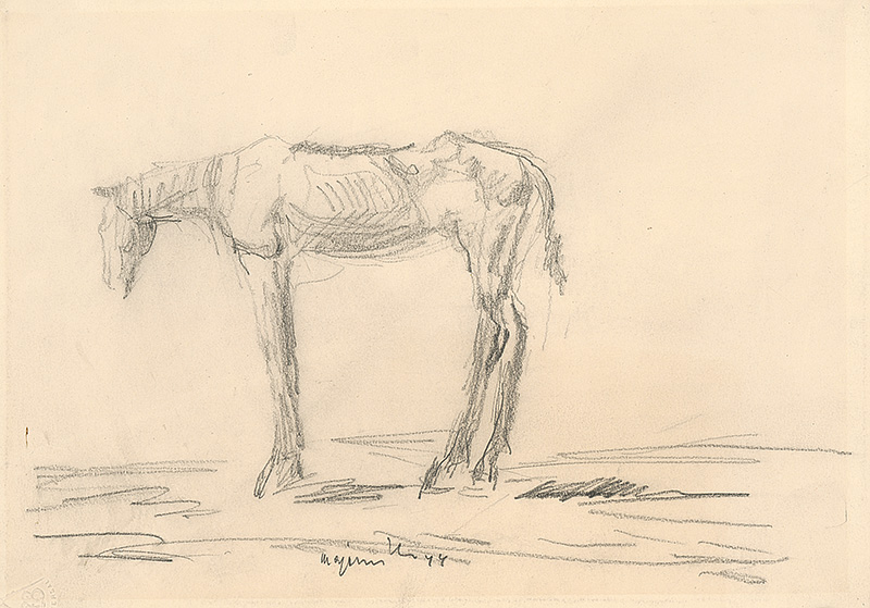 Cyprián Majerník - Vychudnutý koník, 1944,  Slovenská národná galéria