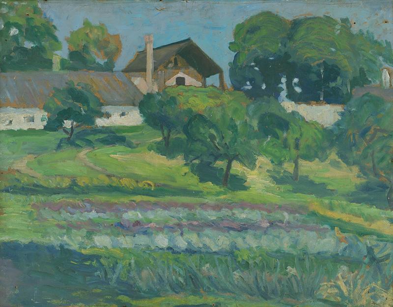 Margita Czóbelová - Krajina s hospodárskym dvorom (Mednyánszkeho ateliér), 1930, SNG